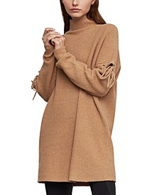 Tie-Sleeve Tunic Sweater