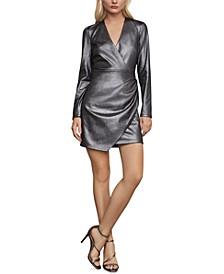 Faux-Suede Mini Dress