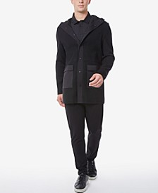 Men's Knit Blend Slim Fit Parka with Hood
