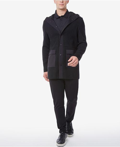 Riverstone Men's Knit Blend Slim Fit Parka with Hood