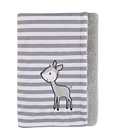 Sweet Deer Sherpa Baby Blanket