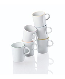 Cucina-Basic Colori Set/6 Mug