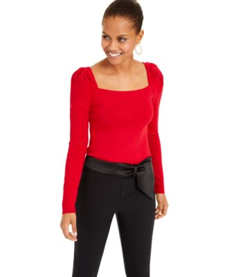 I.N.C. Puff-Sleeve Sweater, Created For Macy's