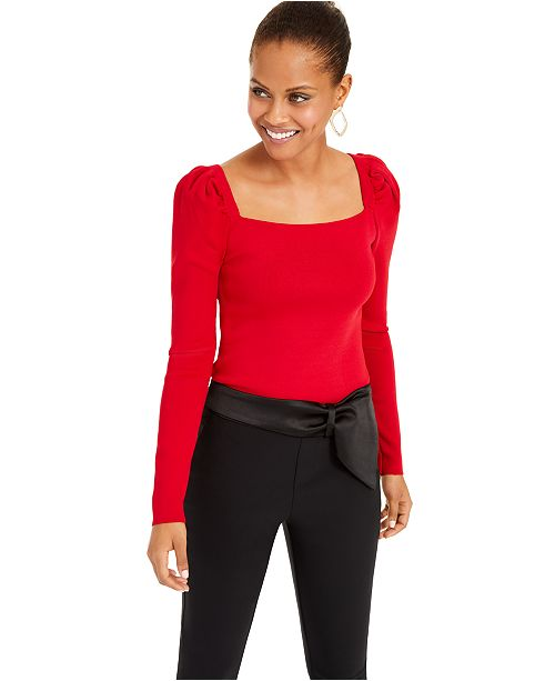 INC International Concepts I.N.C. Puff-Sleeve Sweater, Created For Macy's