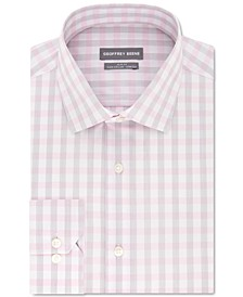 Men's Slim-Fit Performance Stretch Plaid Dress Shirt