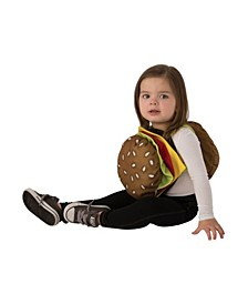 Toddler Girls and Boys Cheeseburger Costume
