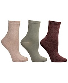 Women's 3 Pack Super Soft Crew Socks, Online Only