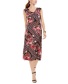 Connected Floral Midi Dress