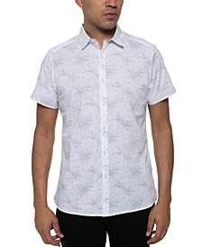 Men's Stretch Galaxy-Print Shirt