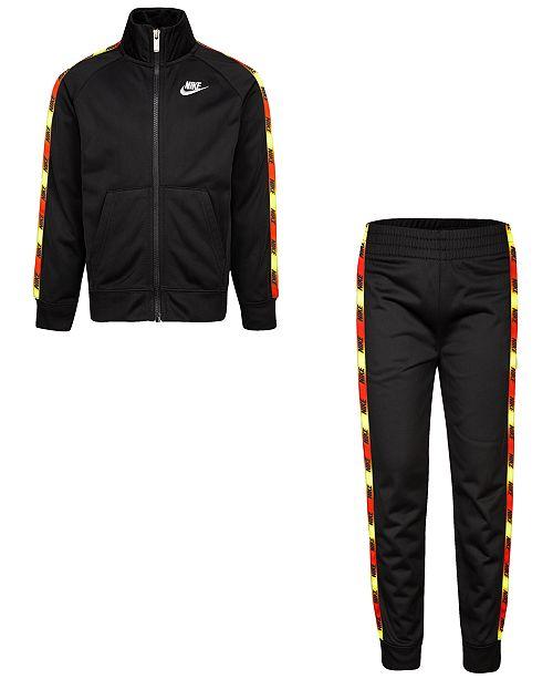 Nike Toddler Boys 2-Pc. Logo-Tape-Trim Jacket & Jogger Pants Set