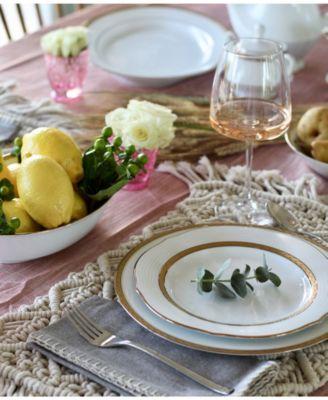 Charlotta Gold 60-PC Dinnerware Set, Service for 12