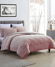 Fleece and Microfiber Reversible King Comforter Set