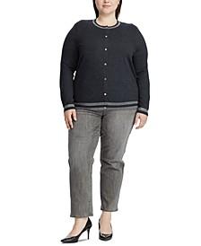 Plus Size Cotton-Blend Cardigan