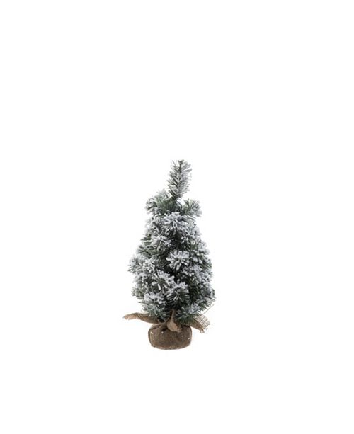 Trans Pac Small Snowy Pine Tree in Bag