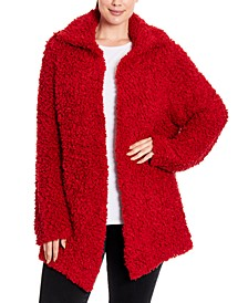 Plus Size Teddy Sweater Jacket