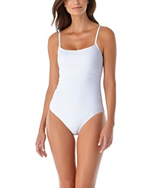 Shirred One-Piece Swimsuit