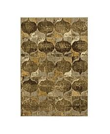 """Expressions Iconograph Gold 2'4"""" x 7'10"""" Runner Rug"""