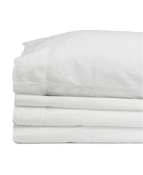 Jennifer Adams Home Jennifer Adams Relaxed Cotton Percale Twin Sheet Set