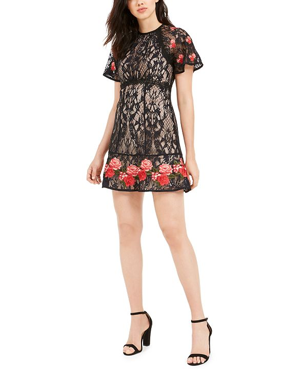 foxiedox Harper Embroidered Dress