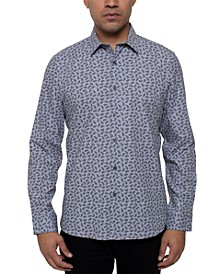 Men's Performance Stretch Paisley-Print Shirt