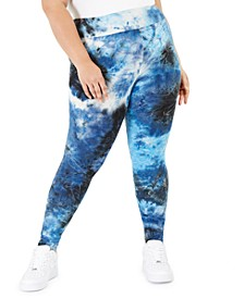 Trendy Plus Size Tie-Dyed Leggings