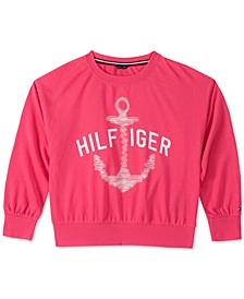 Little Girls Anchor French Terry Sweatshirt