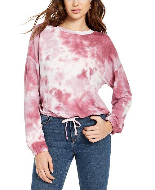 Hooked Up by IOT Juniors' Tie Dye Sweatshirt