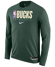 Men's Milwaukee Bucks Team Practice Long Sleeve T-Shirt