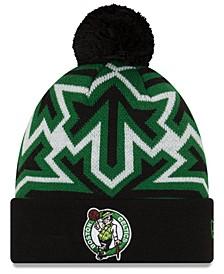 Boston Celtics Big Flake Pom Knit Hat