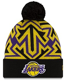 Los Angeles Lakers Big Flake Pom Knit Hat