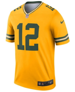 Nike Men's Aaron Rodgers Green Bay Packers Inverted Color Legend Jersey