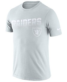 Men's Oakland Raiders 100th Anniversary Sideline Legend Line of Scrimmage T-Shirt