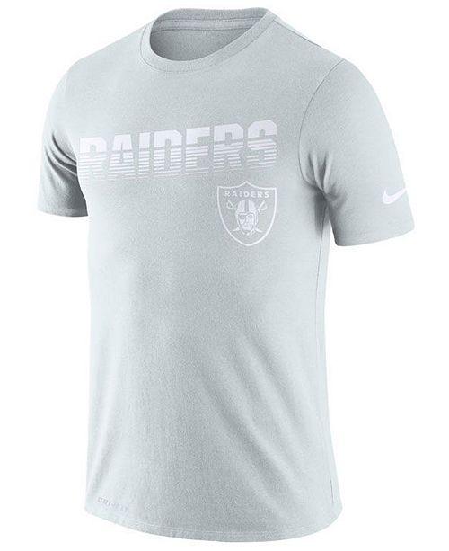 Nike Men's Oakland Raiders 100th Anniversary Sideline Legend Line of Scrimmage T-Shirt