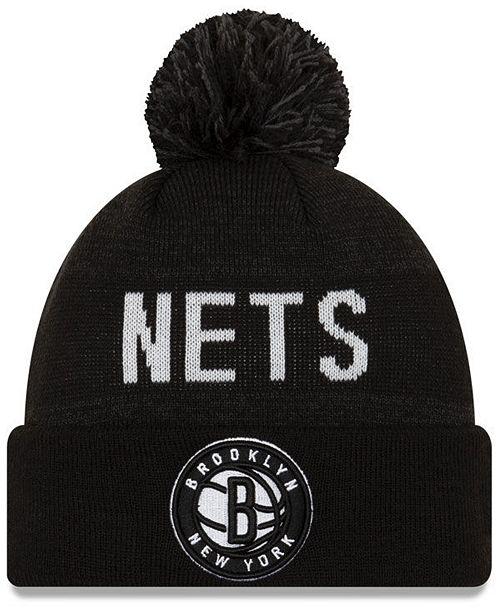 New Era Brooklyn Nets Blackout Speckle Knit Hat