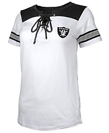 Women's Oakland Raiders Laced Up T-Shirt