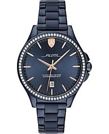 Women's Blue Stainless Steel Bracelet Watch 38mm