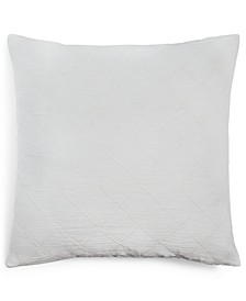 "Puckerd Diamond 18"" Square Decorative Pillow"