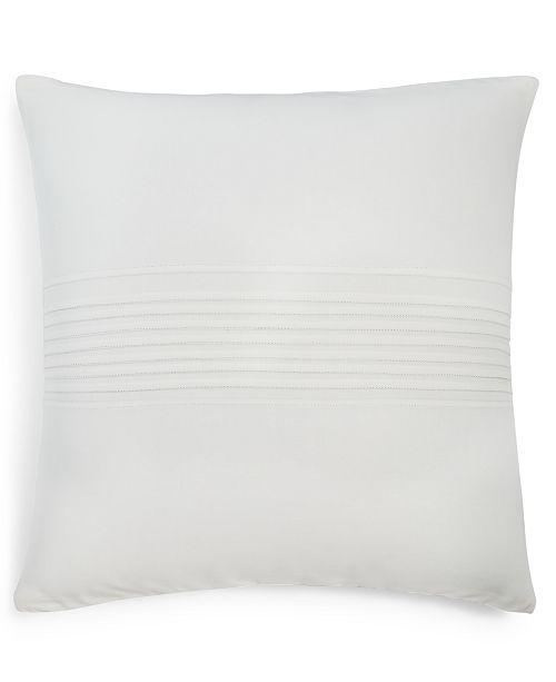 "Calvin Klein  Pleat 18"" Square Decorative Pillow"