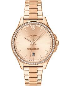 Women's Pilota Rose Gold-Tone Stainless Steel Bracelet Watch 38mm