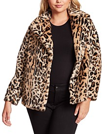 Trendy Plus Size Steele Faux-Fur Cocoon Coat