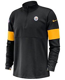 Men's Pittsburgh Steelers Sideline Therma-Fit Half-Zip Top