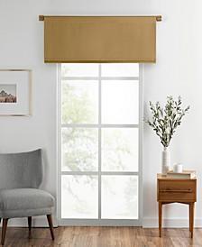 """Vanderbilt Straight Pleated Window Valance, 50""""x18"""""""