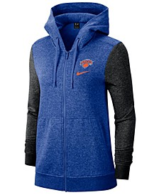 Women's New York Knicks Full-Zip Club Fleece Jacket