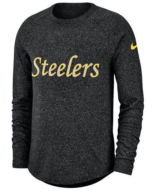 Nike Men's Pittsburgh Steelers Historic Marled Raglan T-Shirt