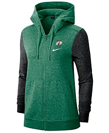 Women's Boston Celtics Full-Zip Club Fleece Jacket