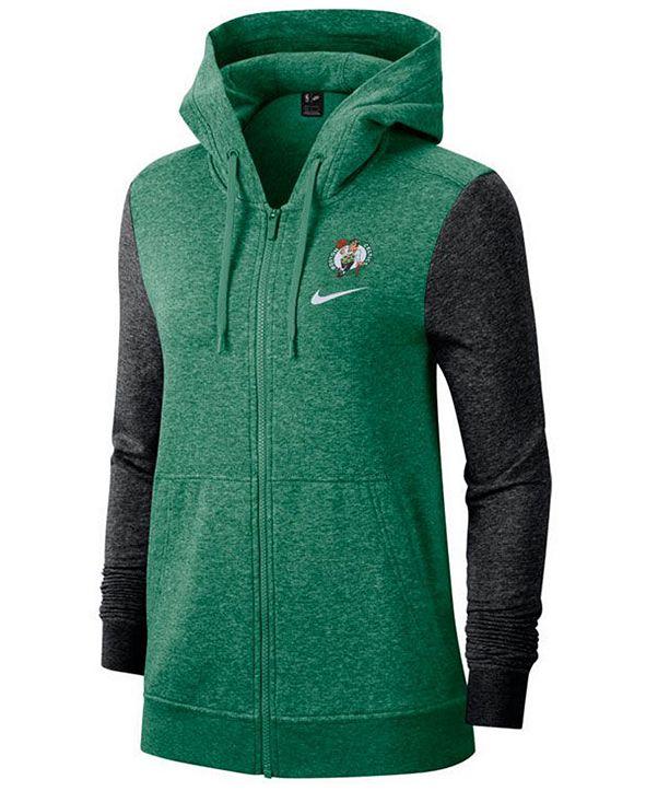 Nike Women's Boston Celtics Full-Zip Club Fleece Jacket