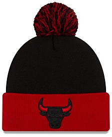 Chicago Bulls Black Pop Knit Hat