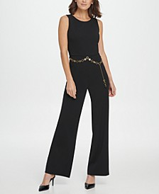 Gold Link Belt Jumpsuit