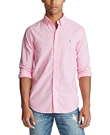 Men's Big and Tall Classic Fit Garment-Dyed Long-Sleeve Oxford Shirt