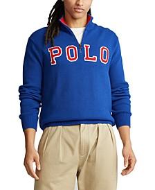 Men's Big & Tall Polo Logo Quarter-Zip Sweater